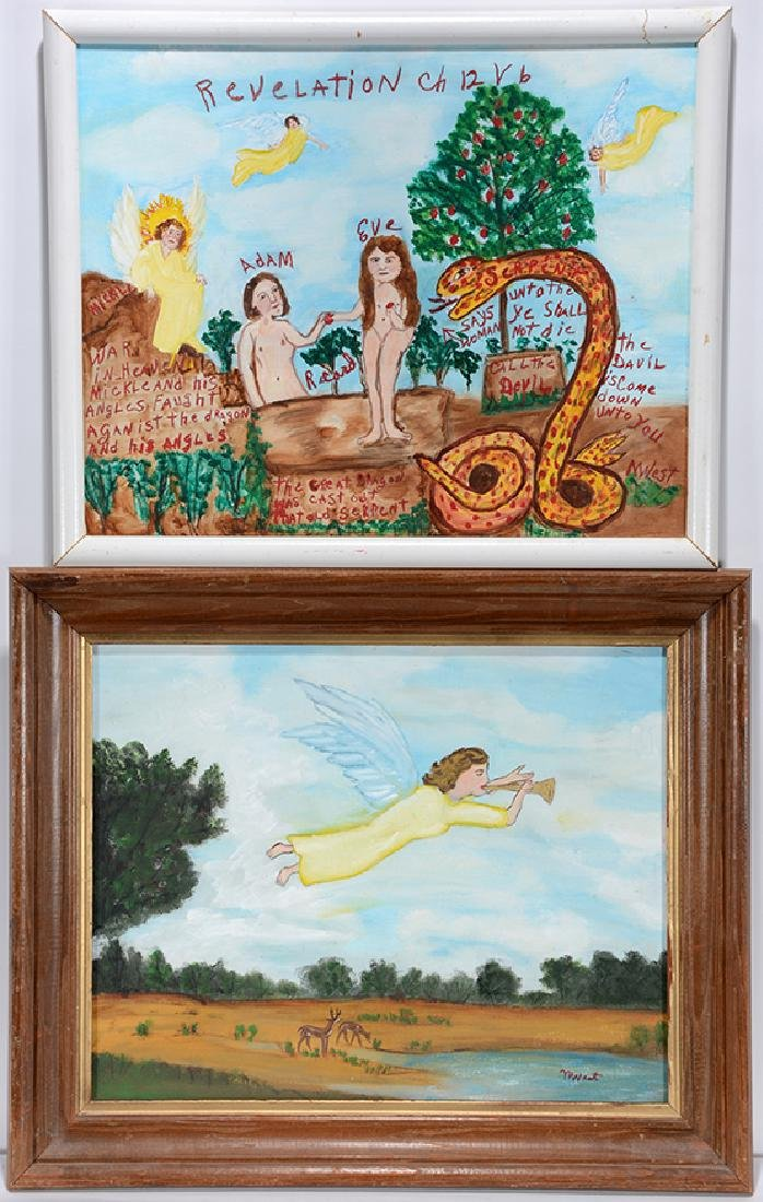 Myrtice West. Adam & Eve and Angel.