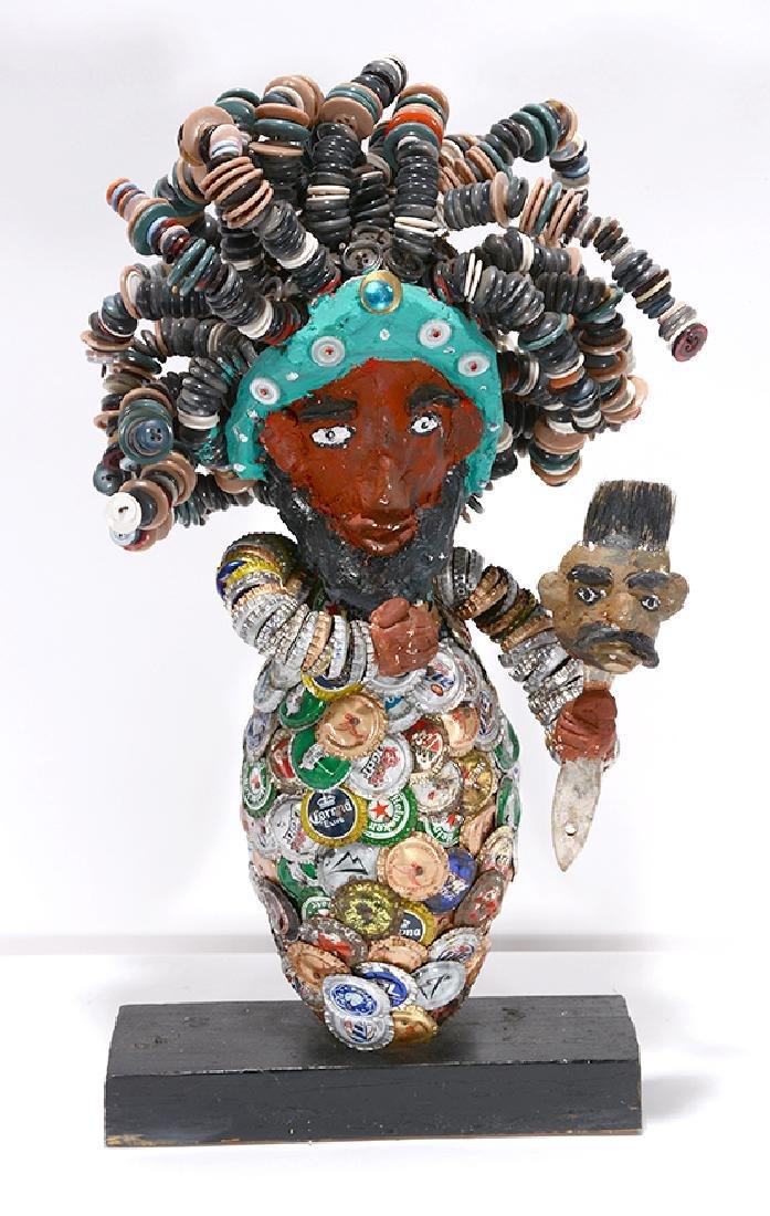 Mr. Imagination. Self-Portrait Sculpture.