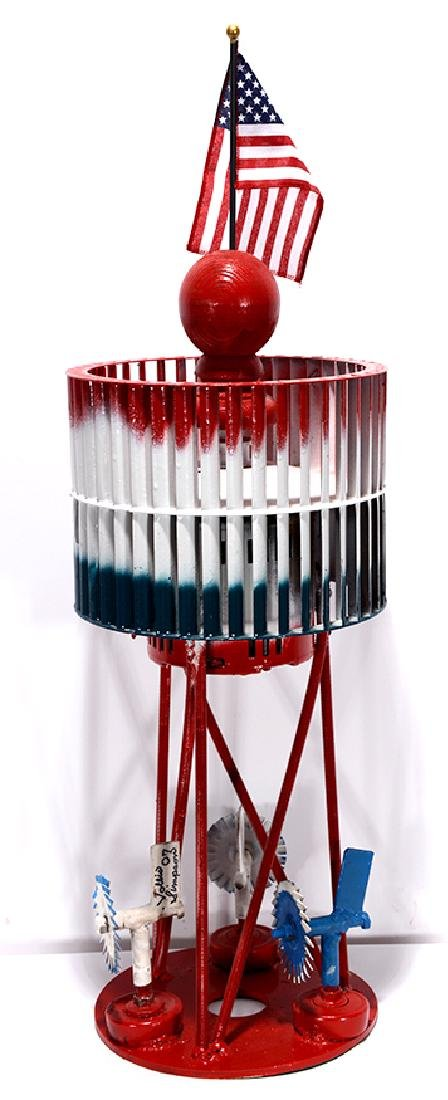 Vollis Simpson. Red, White & Blue Whirligig.