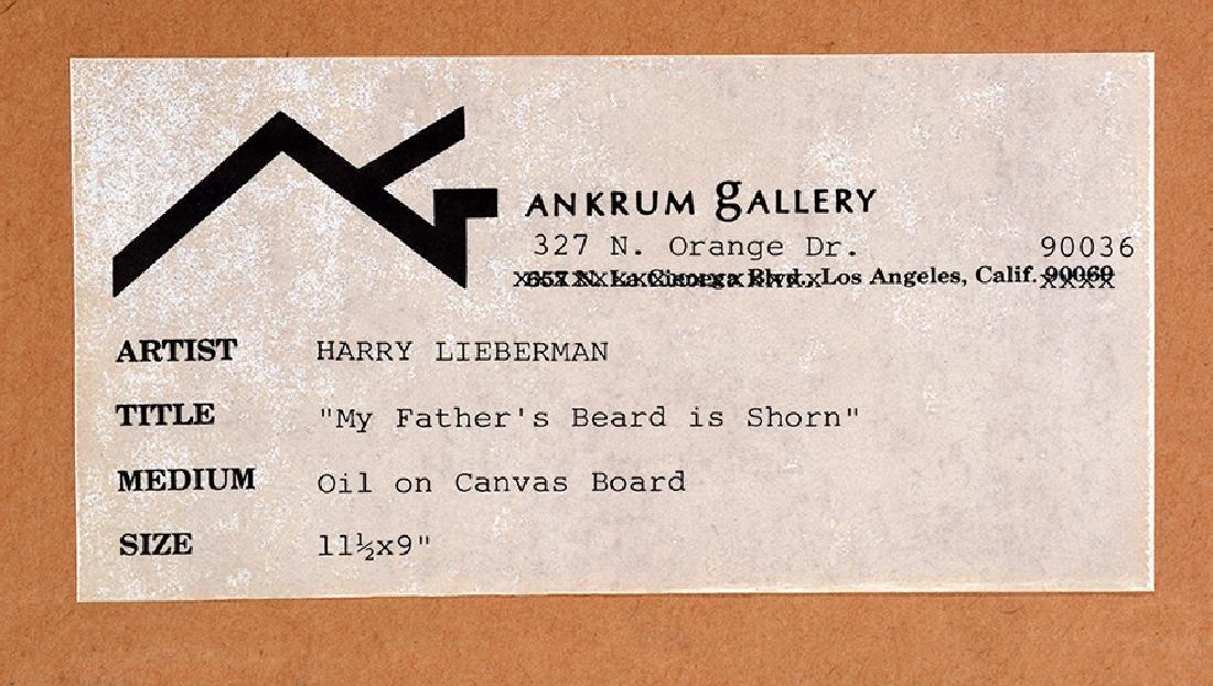 Harry Lieberman. My Father's Beard Is Shorn. - 2