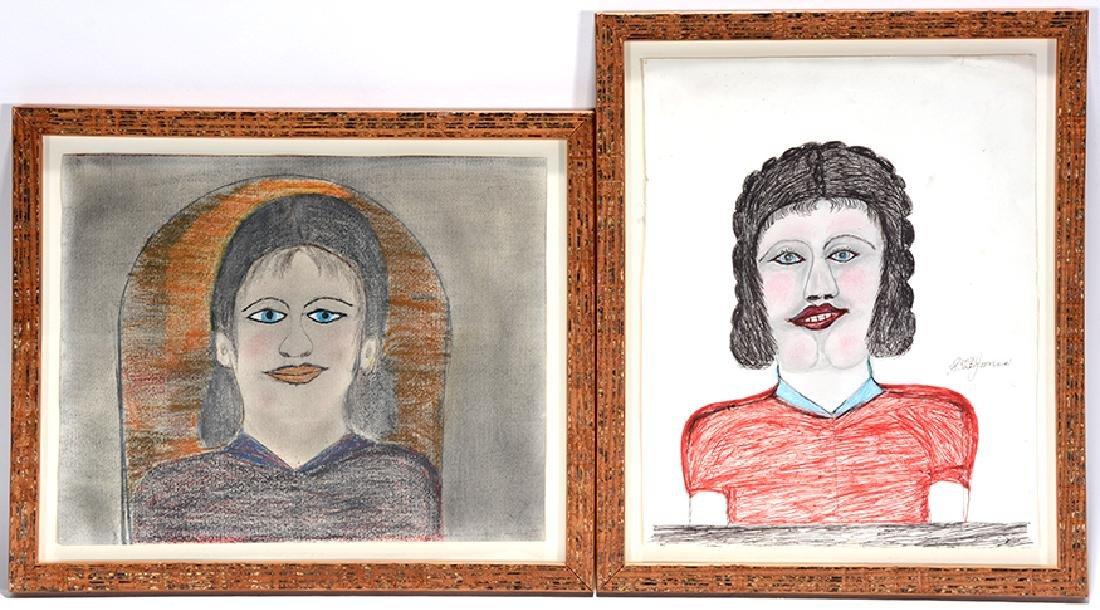 S.L. Jones. Pair of Early Portraits.