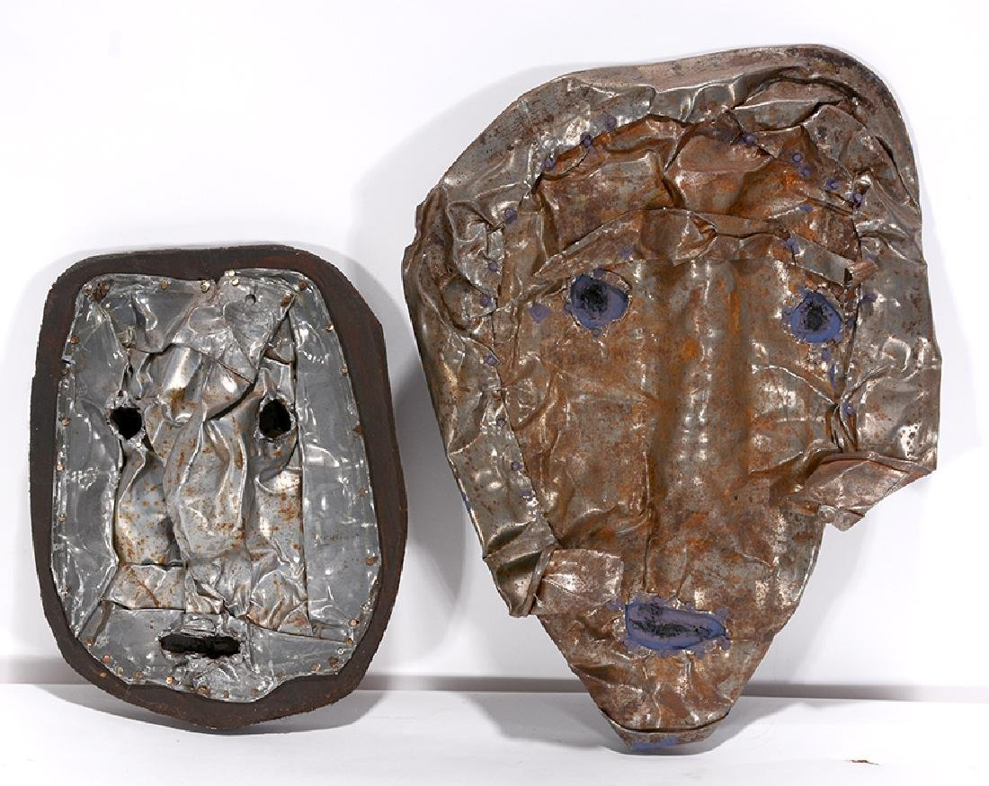 Jerry Coker. Pair Of Masks.