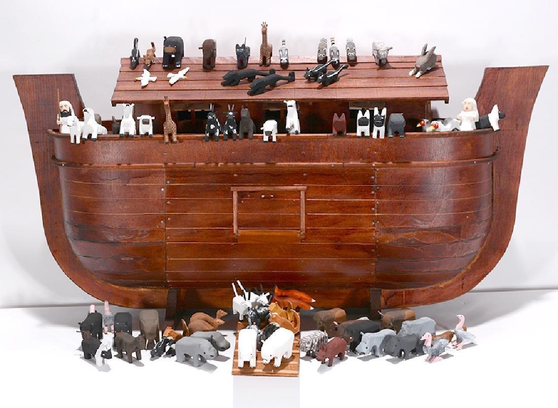 Ivy Billiot.  Noah's Ark With Animals.