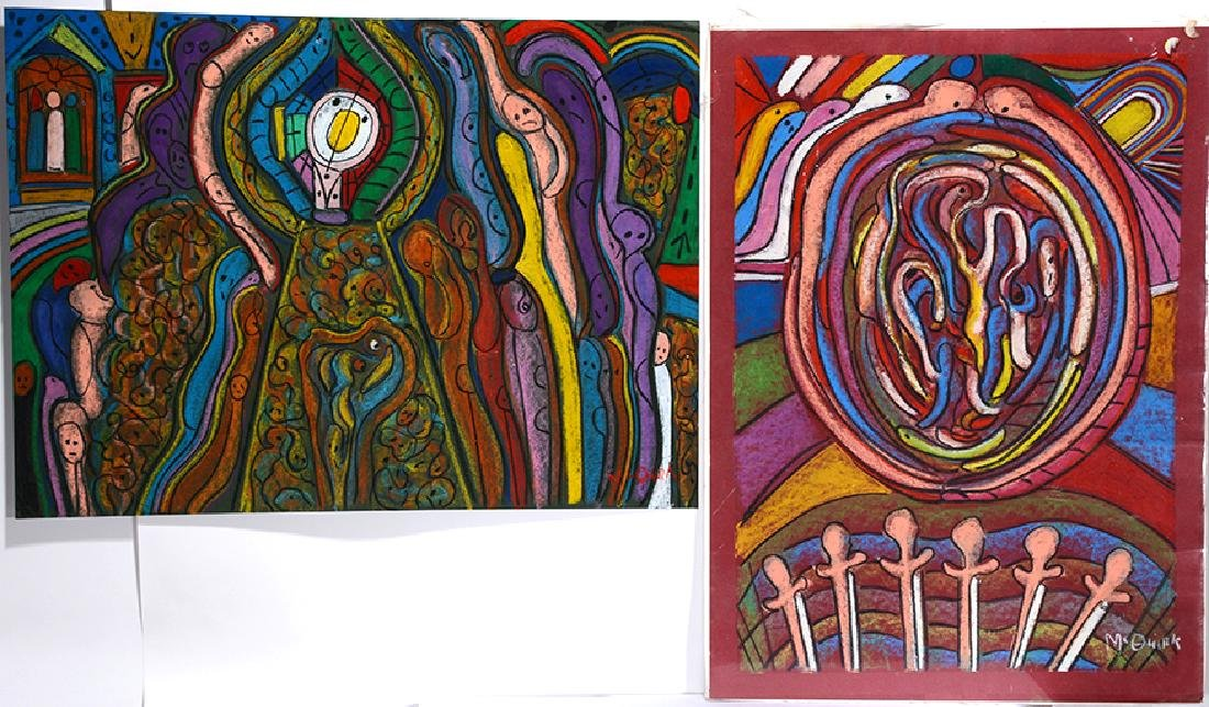 John McQuirk. 2 Large Colorful Works.