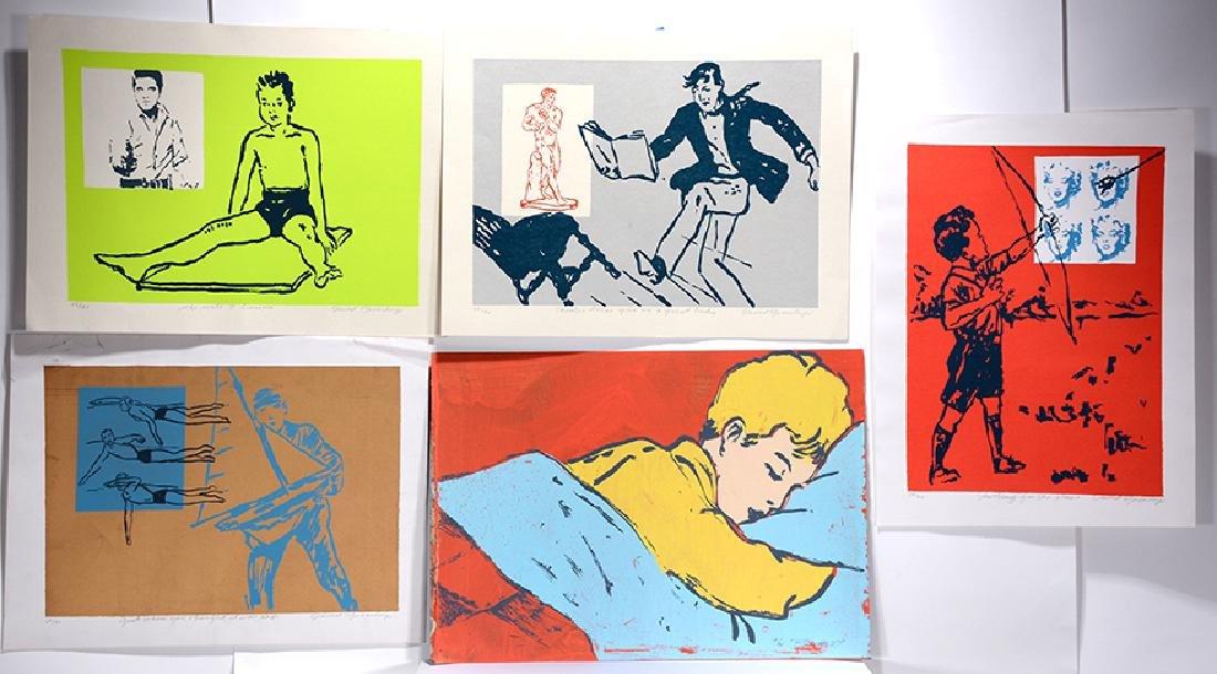 David Bromley. 5Printed Works On Paper.