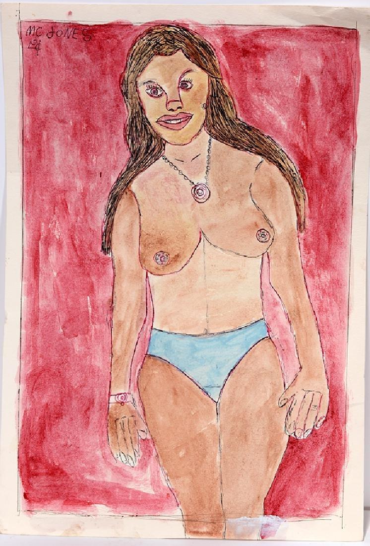 M.C. 5¢ Jones. Topless Woman.