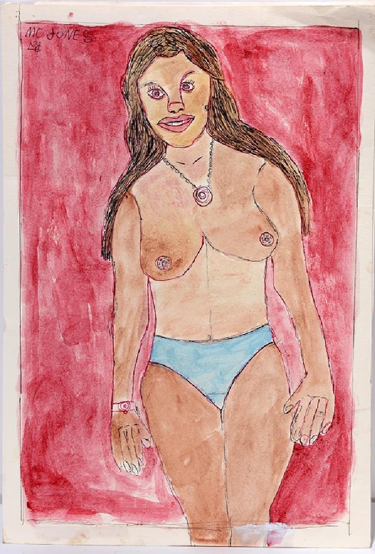 M.C. 5¢ Jones. Topless Woman. - 2