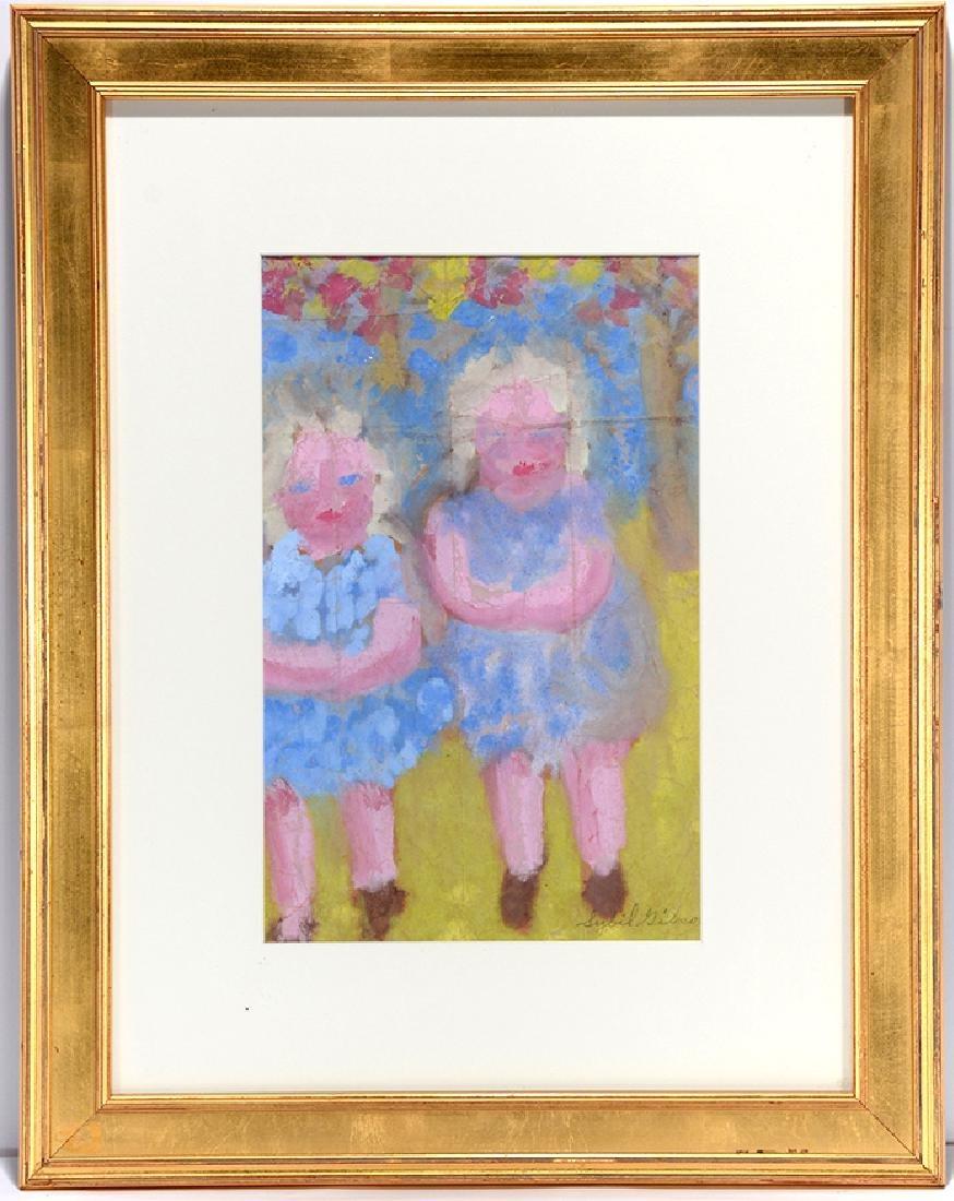Sybil Gibson. 2 Girls In Blue Dresses.