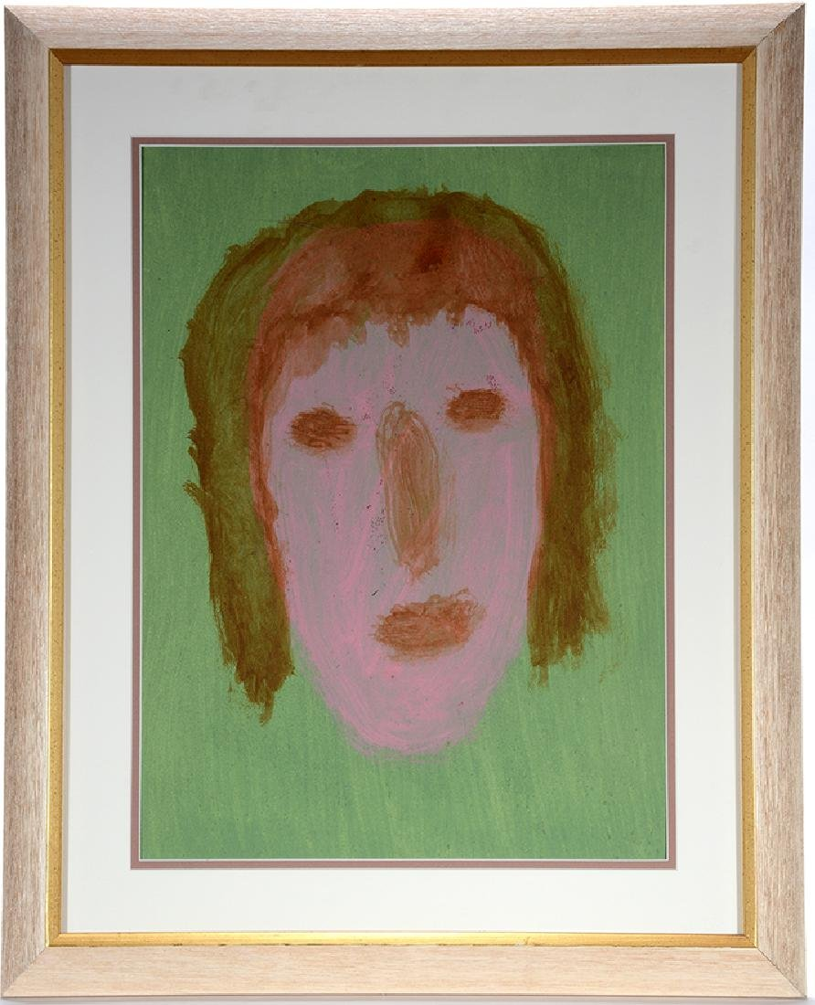 Sybil Gibson. Portrait On Green.