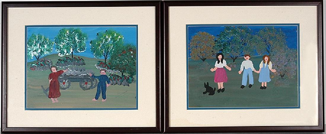 Annie Wellborn. Pair of Paintings.