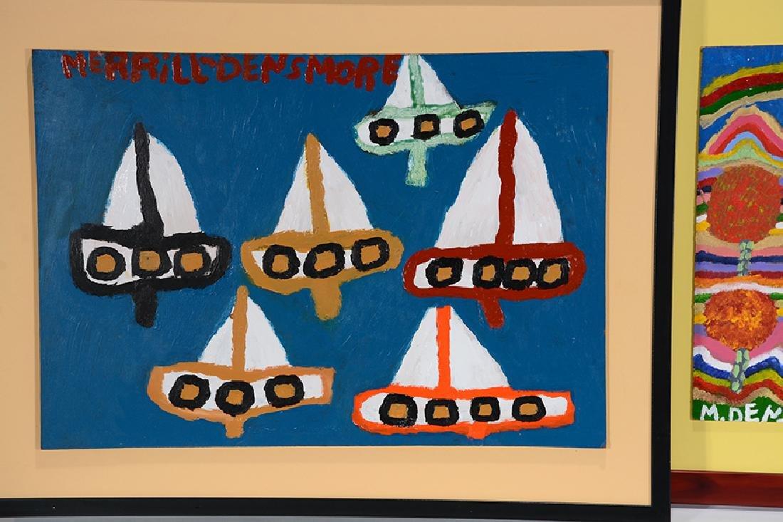 Merrill Densmore. 5 Boat & House Paintings. - 2