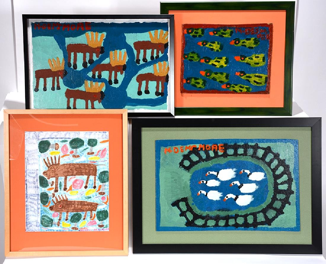 Merrill Densmore. 4 Works Featuring Animals.