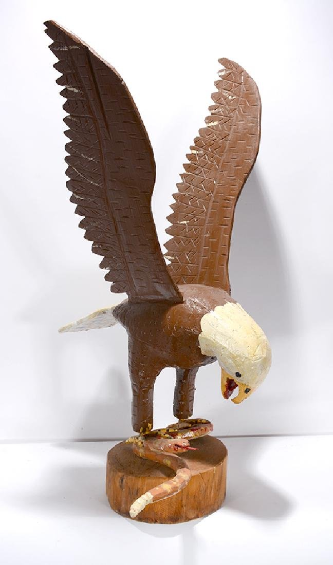 W.M. Bald Eagle With Snake.