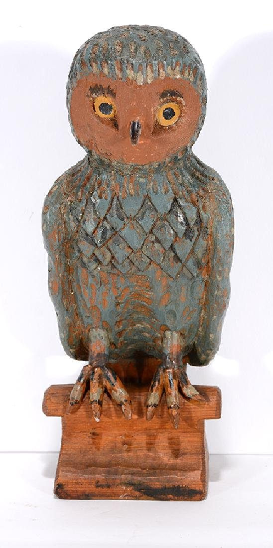 Pacific Northwest Carved Owl.