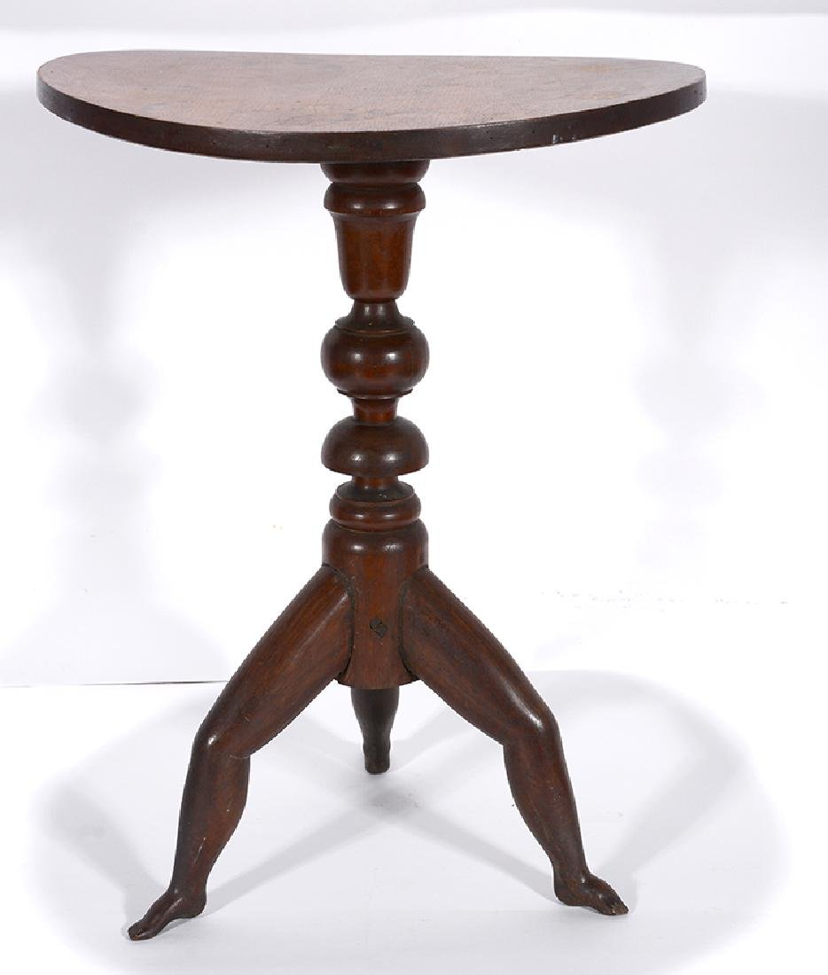 Three Footed Round Lamp Table.