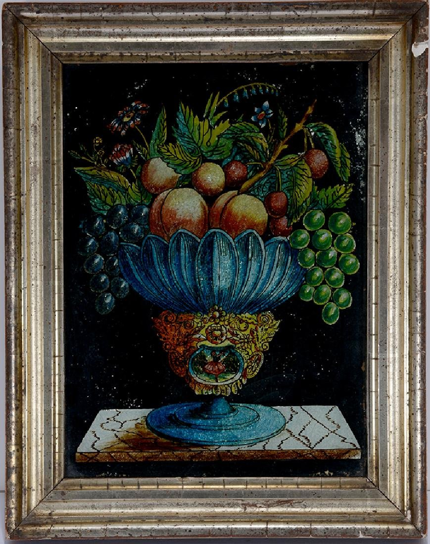 Reverse Painting Southern Fruit Bowl.