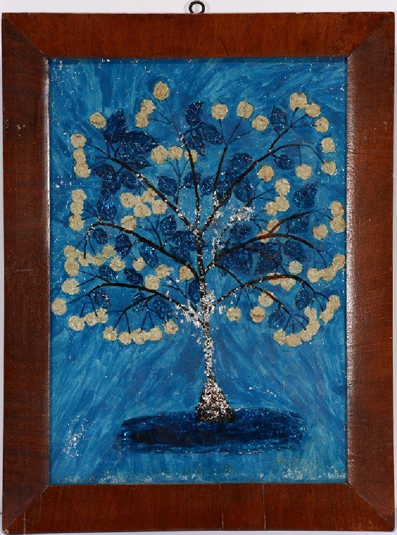 Amy Cole Eddy. Flowering Tree In Blue.