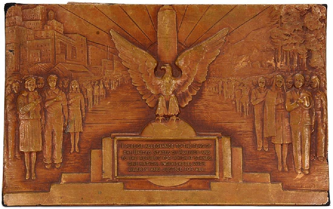 T. Winston. Pledge Allegiance Plaque.