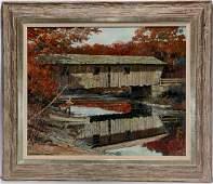 Eric Sloane. Lovejoy Bridge, S. Andover Maine.