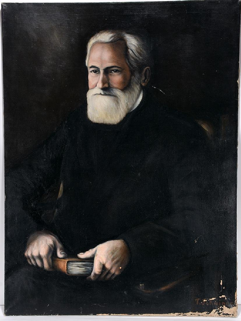 T. Johnides. Portrait Of Grey Haired Man.