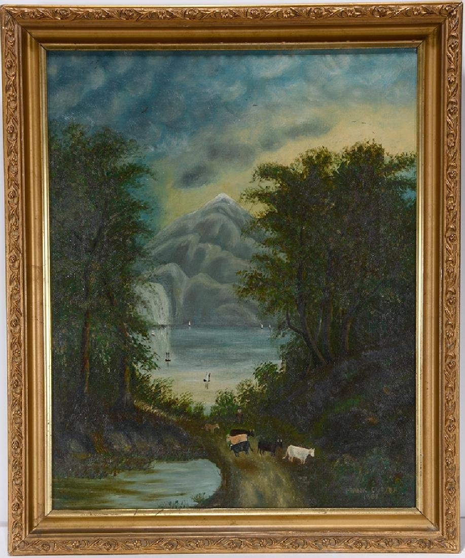 Frank Cutter. Cows and Lake.