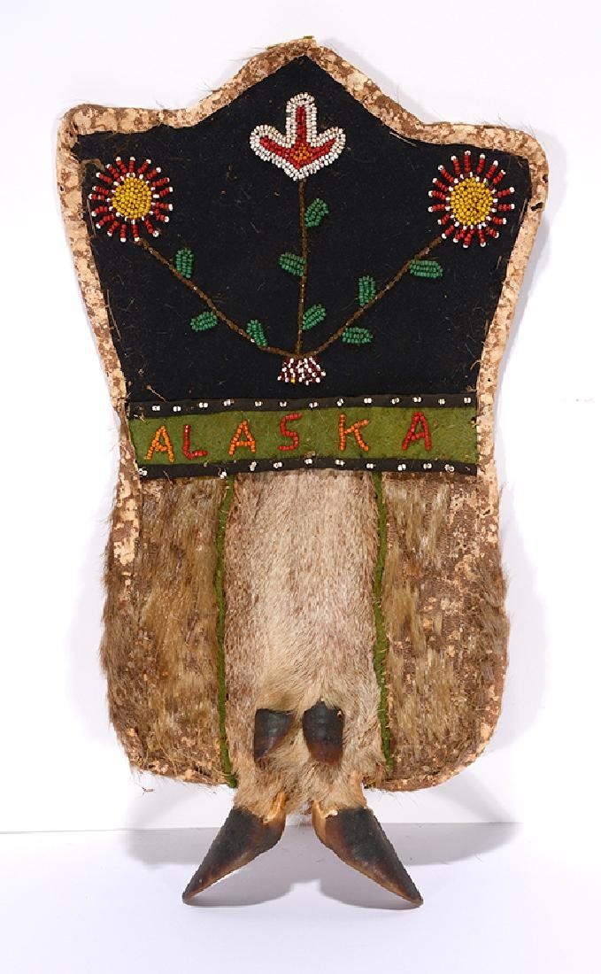 Alaskan Native Costume Beaded Pouch.
