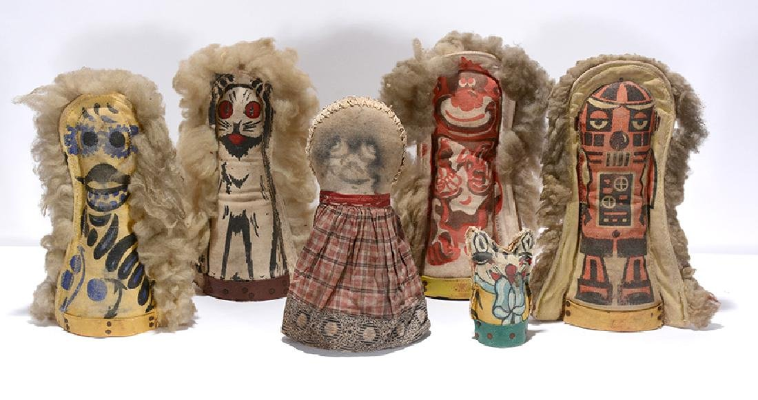 6 Double-Sided Circus Knockdown Dolls.