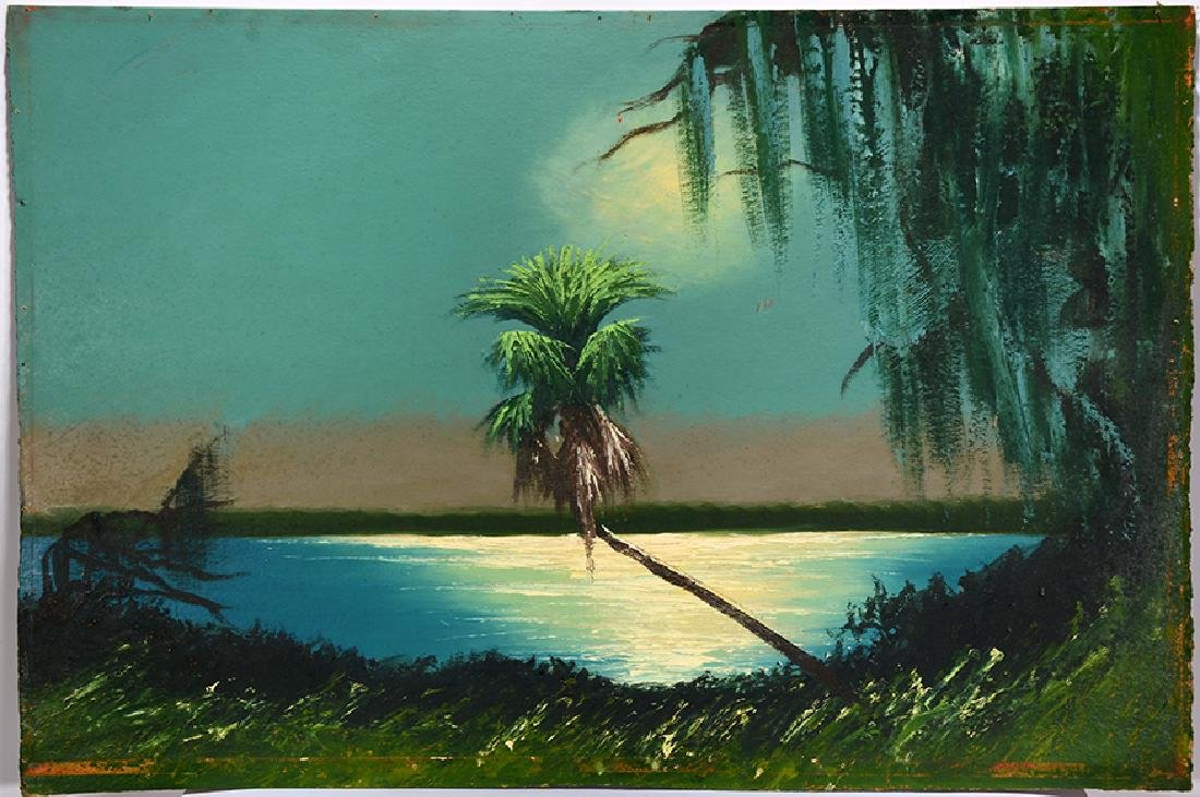 Alfred Hair. Moonlight Over Single Palm.
