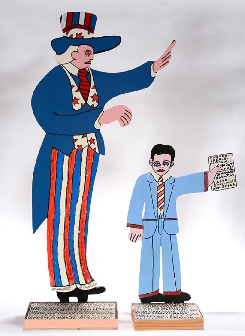 Howard Finster. Uncle Sam & Self-Portrait.