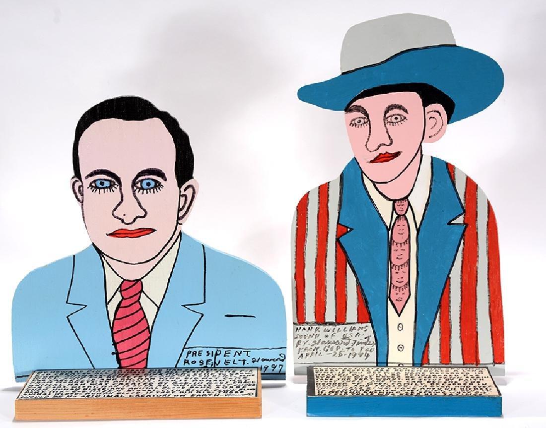 Howard Finster. Hank Williams & Roosevelt.