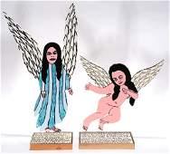 Howard Finster. Pair Of Angels.