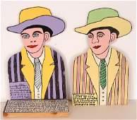 Howard Finster. Hank Williams Portraits.