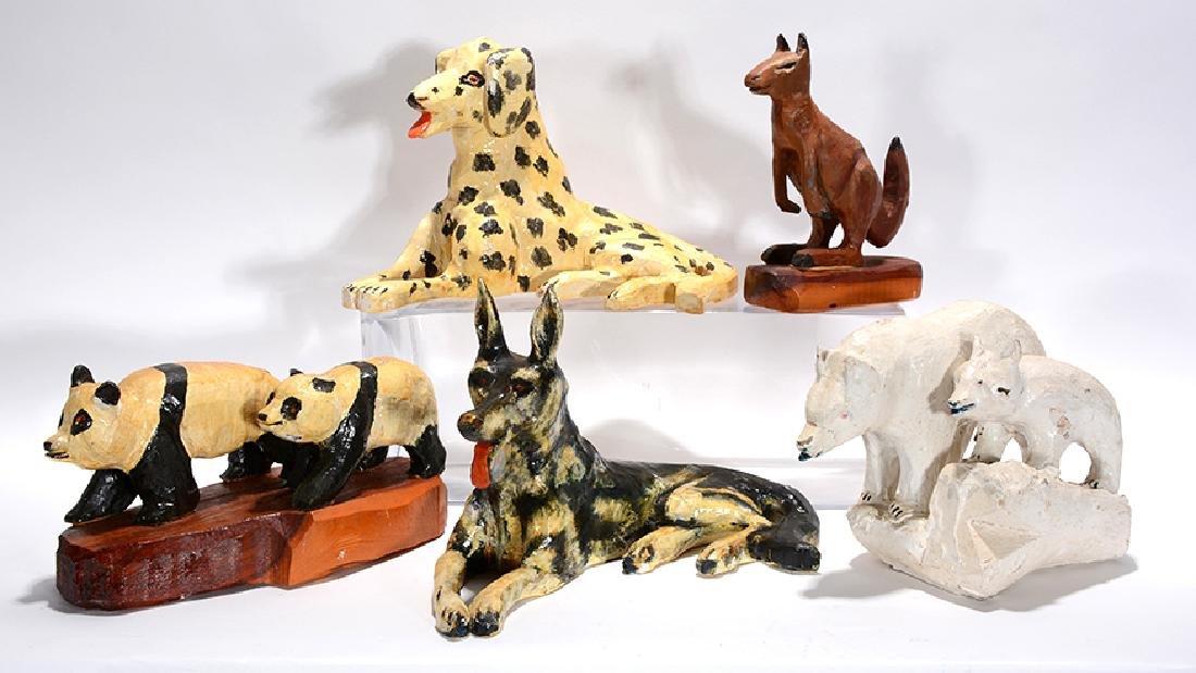 Kurt Wuestenhagen. Dogs, Bears, Kangaroo Figurines.
