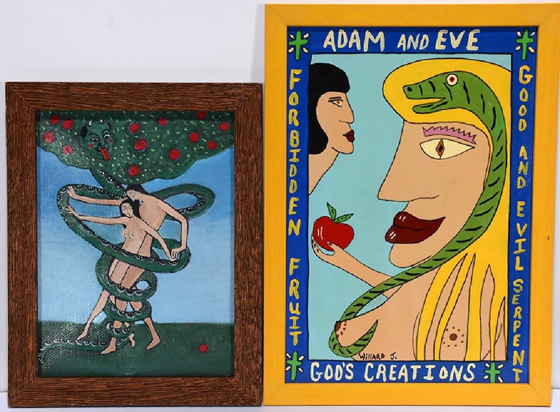 Willard J. Adam & Eve Portraits.
