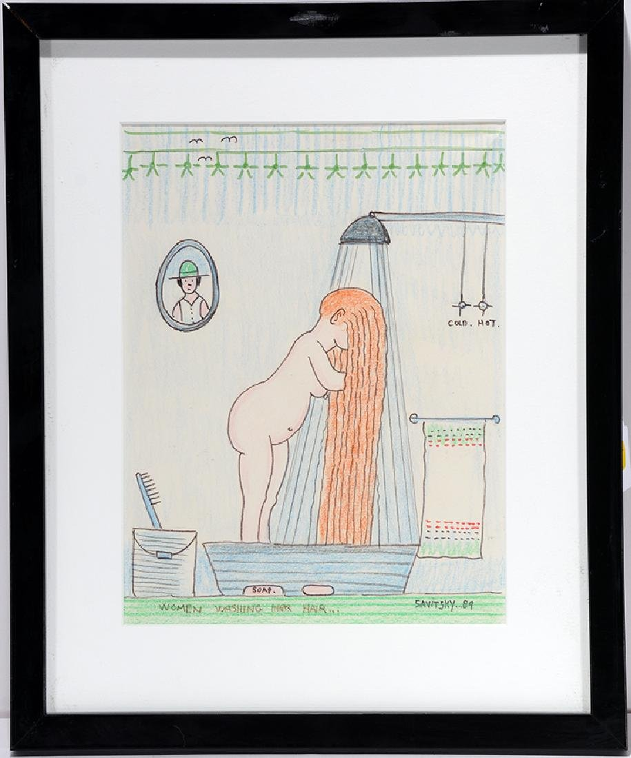 Jack Savitsky. Woman Washing Her Hair.