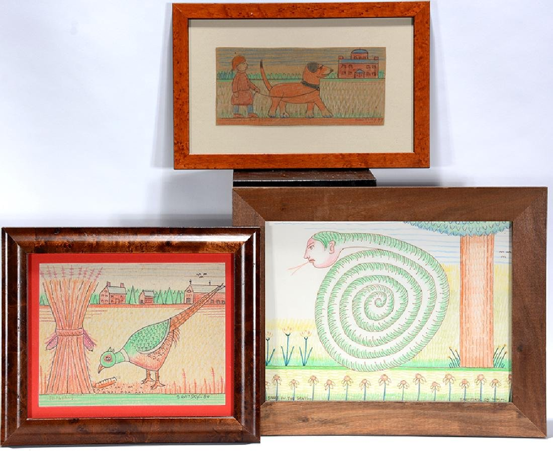 Jack Savitsky. Three Drawings.