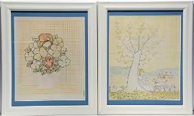 Jack Savitsky Flower  Women Drawings