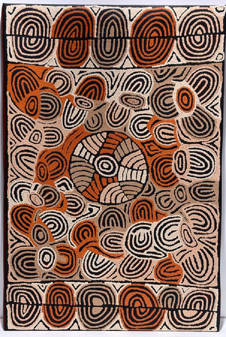Kim Butler Napurrula. Traditional Abstract.