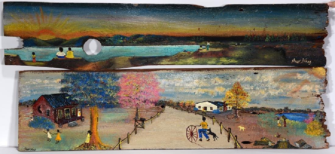 Sharon Johnson. 2 Memory Paintings.