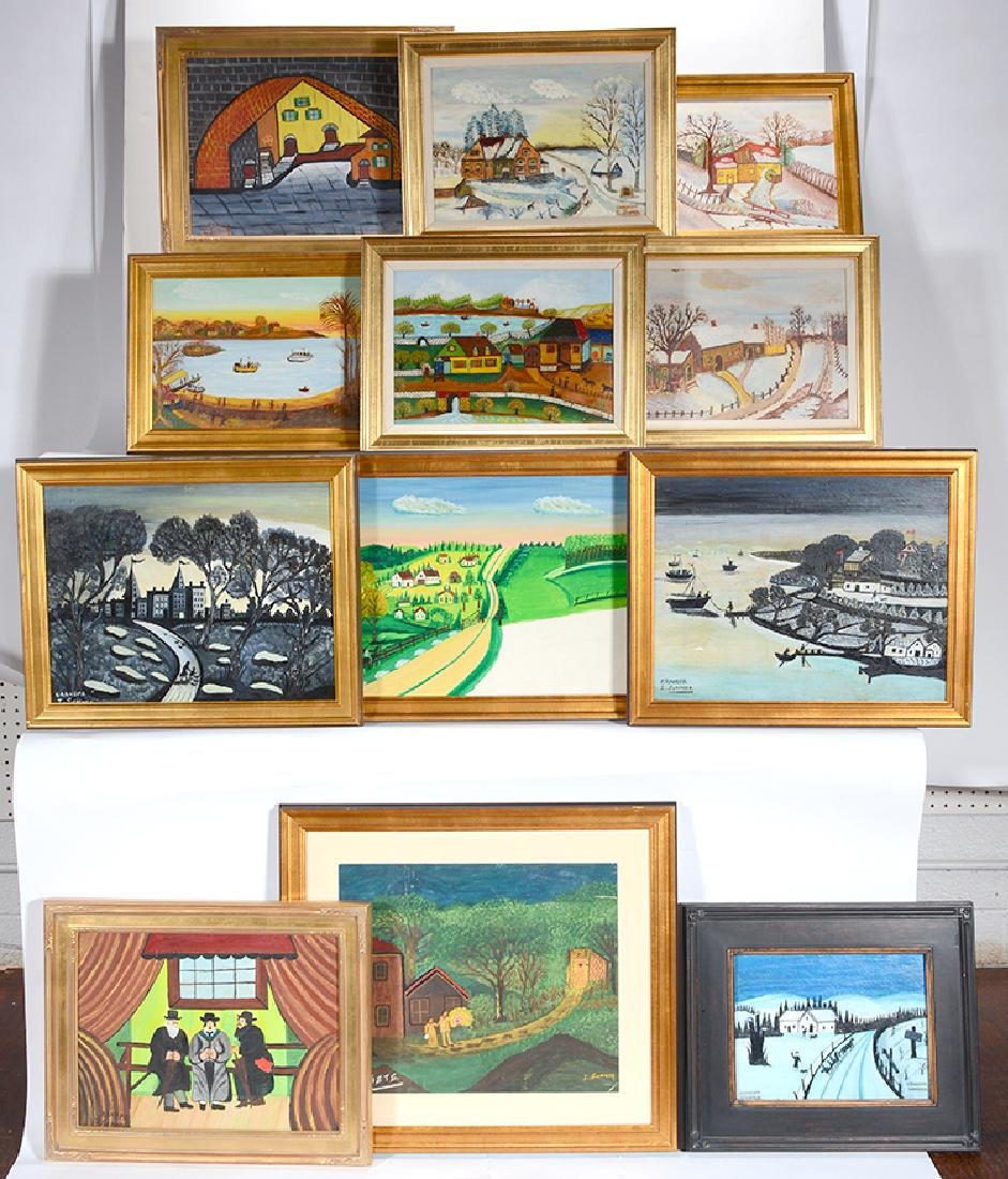 """Isador """"Grand Pa"""" Sommer. 12 Paintings."""