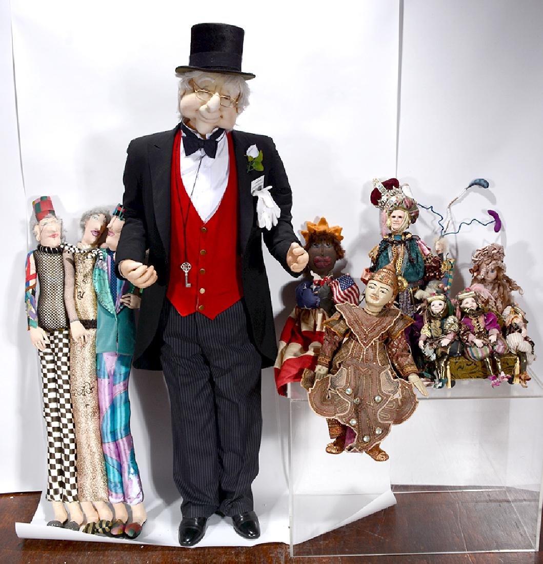 Box Lot Of Six Dolls.