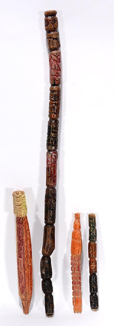 Leroy Persons. 4 Handcarved Works.