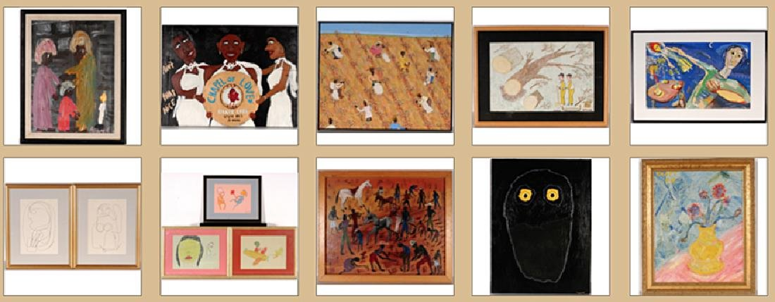 Mixed Artists. 13 Paintings.