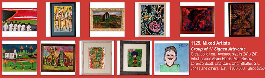 Mixed Artists. 11 Signed Artworks.