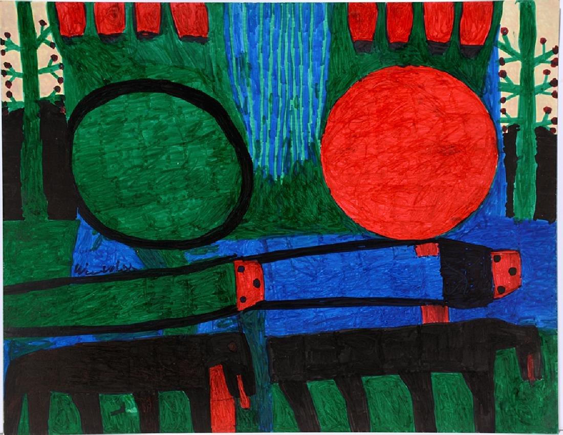 Willie White. Blue & Green.