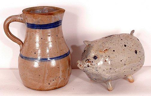 4: Norma E. Smith Ceramic Pitcher & Piggy Bank.