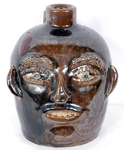 7: Jerry Brown Face Jug with Blue Eyes.