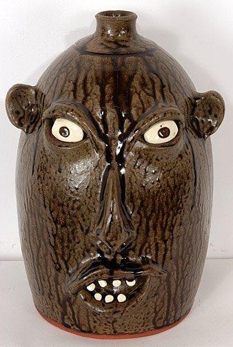 8: Jeff Standridge Face Jug.