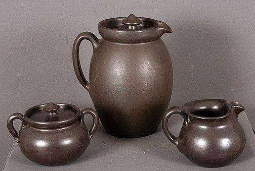 16: W.J. Gordy Pitcher, Sugar, Creamer Coffee