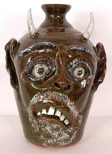 19: Bobby Ferguson Devil Face Jug.